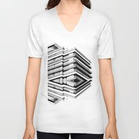 the grand budapest hotel V-neck T-shirts featuring Hotel Merriot Budapest. Deconstruction by Villaraco
