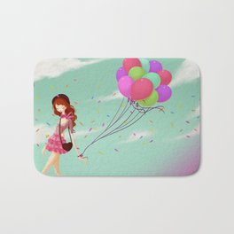 Balloons Bath Mat