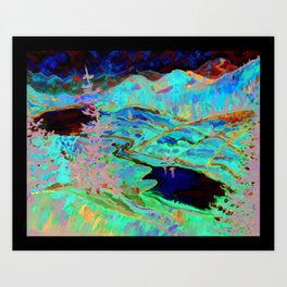 Expressionist Valley - Inspired by Erin Hanson - Print from Original Canvas Painting Art Print