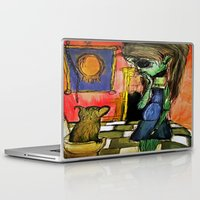 toilet Laptop & iPad Skins featuring Girl and Toilet by Nicole Medearis