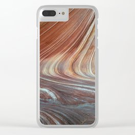 Paria Wilderness: The Wave with Light Blue Sandstone Clear iPhone Case