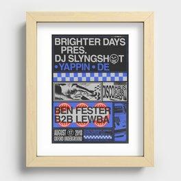 Brighter Days / DJ Slyngshot Recessed Framed Print