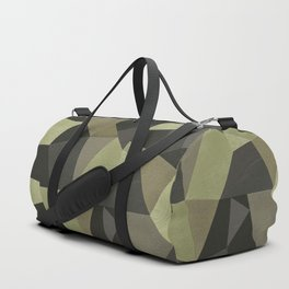 Black shabby green patches of the skin . Duffle Bag