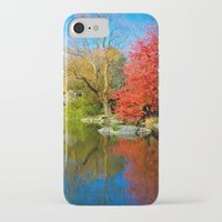 central park iPhone & iPod Cases featuring Central Park by Davide Carnevale