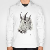 goat Hoodies featuring Goat by Ursula Rodgers