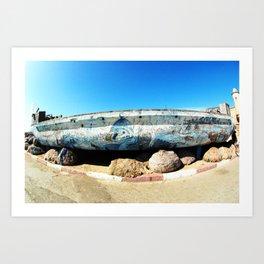 Essaouira harbour, Morocco, Africa Art Print