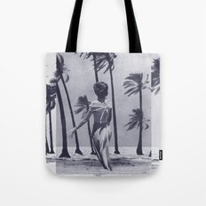 Tropical Storm in Purple Tote Bag