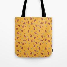 yellow dotty Tote Bag