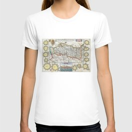 Vintage Map of Portugal (1747) T-shirt