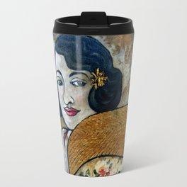 Vintage Impressions * Fuchia Scarf Travel Mug