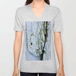 Weathered Barn Wall Wood Texture Unisex V-Neck