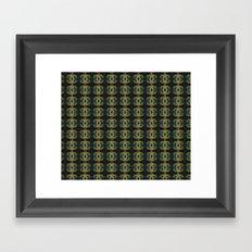 Peacock Bead Abstract Framed Art Print