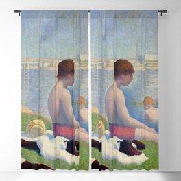 """Georges Seurat """"Bathers at Asnières"""" Blackout Curtain"""
