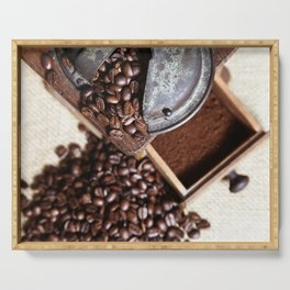 Coffee grinder with coffee beans picture Serving Tray