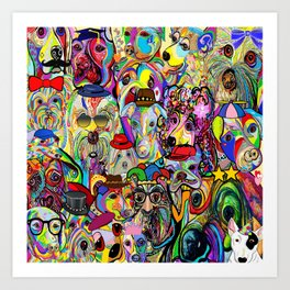Dogs Dogs Dogs 2 Doggy Dress Up! Art Print