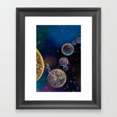 Blowing bubbles Framed Art Print