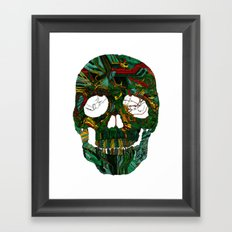 Skull No.7 Motherboard Framed Art Print