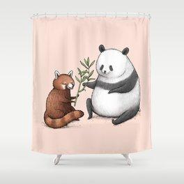 Panda Friends Shower Curtain