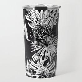 Black and white tropics Travel Mug