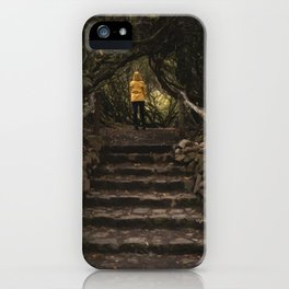 Magical forest - nature, scotland, isle of skye, garden, person, landscape iPhone Case