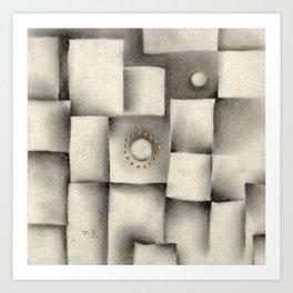 Quantum plate Art Print