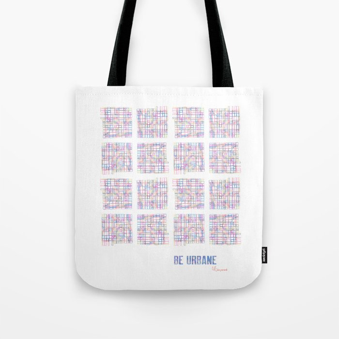 Be Urbane (City Blocks) Tote Bag