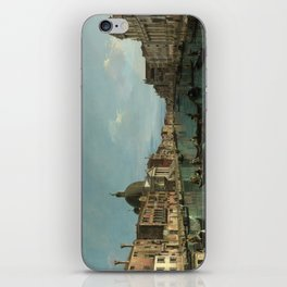 A View of the Grand Canal by Canaletto iPhone Skin