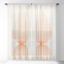 Abstraction_SUN_LINE_SHINE_POP_ART_011W Sheer Curtain