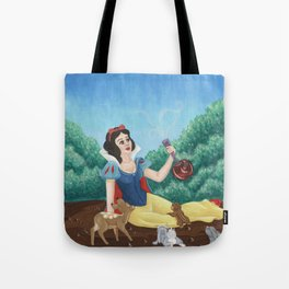 Snow White and the Apple Tote Bag