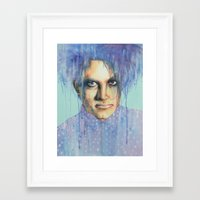 the cure Framed Art Prints featuring Pastel Cure by Anne Blondie Bengard