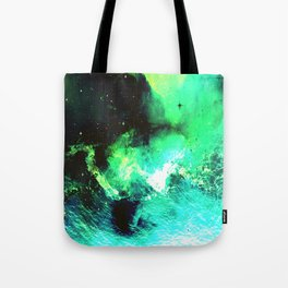 Green Nebula Tote Bag