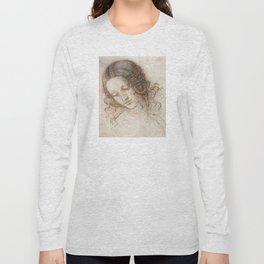 Leonardo da Vinci - Head of Leda Long Sleeve T-shirt