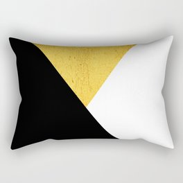 Gold & Black Geometry Rectangular Pillow