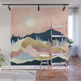 Coral Sunset Wall Mural