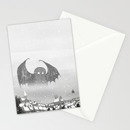 Cthulhu & Lighthouse Stationery Cards