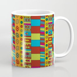 Abstract hand drawn Ethno design  in vivid colours. Coffee Mug