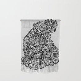 Sitting Hippo Doodle Wall Hanging