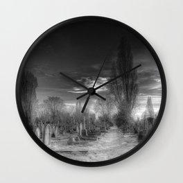 Ghostly Kensal Green Cemetery London Wall Clock