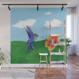 The very hungry hummingbird Wall Mural