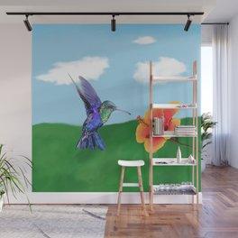 The very hungry hummingbird Wall Mural