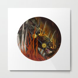 Horse in fire painting Metal Print