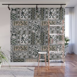 Hawaiian Honu Tapa Cloth Wall Mural