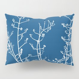 Elegant Floral on Classic Blue, Color of the Year 2020 Pillow Sham