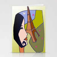 france Stationery Cards featuring France by Karl-Heinz Lüpke