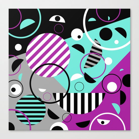 Bits And Bobs - Abstract, geometric design Canvas Print