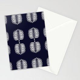 TROPICAL PALMS . INDIGO BLUE + WHITE Stationery Cards