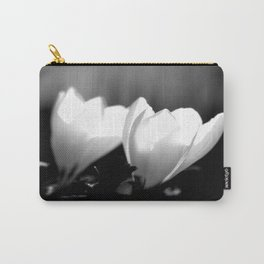 You Two - Crocus Flowers Black And White Carry-All Pouch