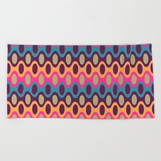 Chain of Colors Beach Towel