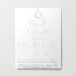 Keep calm and kill the bunny. Metal Print