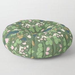 Strawberry Rat Thieves (green) Floor Pillow